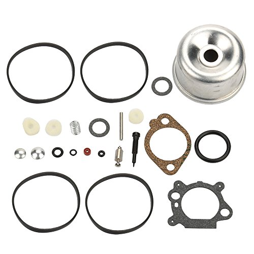 Panari 493762 Carburetor Overhaul Kit Float Bowl for Briggs and Stratton 498260 492495 796611 493640 (Briggs & Stratton 498260 Carburetor Overhaul Kit)