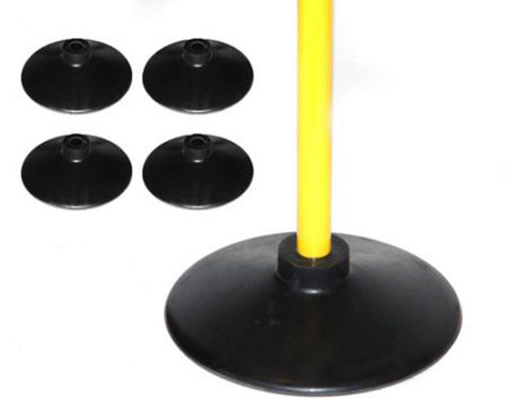 Set de 4 bases para picas de caucho