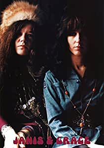 Janis Joplin and Grace Slick Music Poster Print 24 x 33in with Poster Hanger