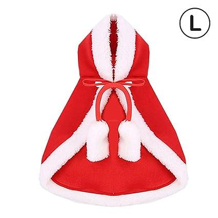 LiféUP Capa de Navidad Santa, Disfraz de Navidad para Gatos ...