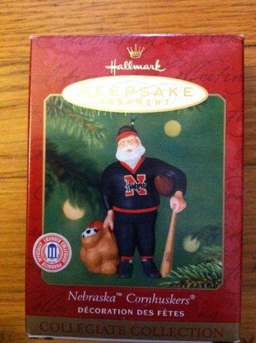 Nebraska Cornhuskers Santa - Nebraska Cornhuskers Santa Hallmark Keepsake Ornament