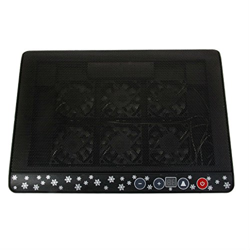 "New 2 USB 6 Fans Cooling Cooler Pad Stand for 12""-17"" Laptop LED Light Black from Unknown"