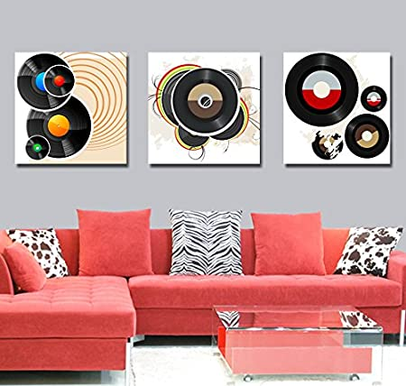 Compact Disk Fashion Design Black CD Picture Room Painting ...