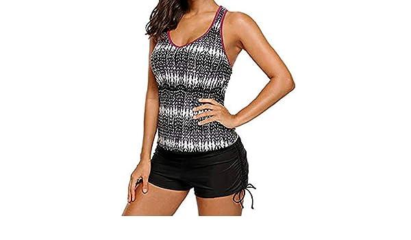 SHOBDW mujer Traje de Baño Tankini Tallas Grandes Bikini Set Push-Up Traje de Baño Estampado Acolchado Ropa de Playa Camisola Traje de Baño de Dos Piezas: Amazon.es: Ropa y accesorios