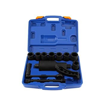 DURHAND 11pcs Heavy Duty Torque Multiplier Wrench Set Socket Lug Nut Remover 1:64 Labor Saving Kit
