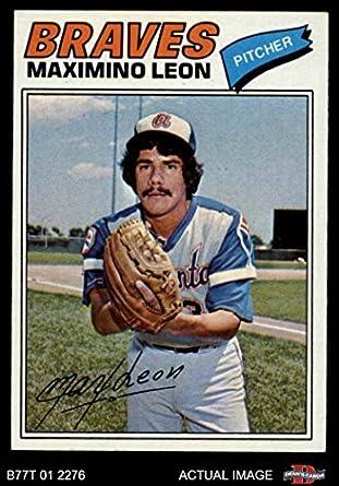 Amazoncom 1977 Topps 213 Maximino Leon Atlanta Braves