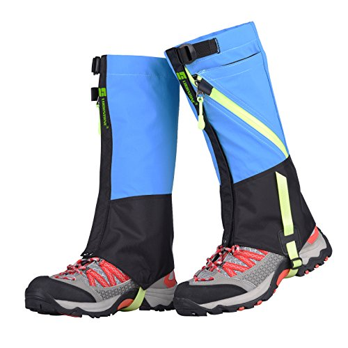 TAGVO Snow Gaiter, Waterproof Windproof Warm Shoes Cover, Durable Easy Cleaning Hiking Gator, Easy Open and Off, Fit Adults Kids Men Women Hunting Climbing Skiing Biking Trimming - Boots Biking Dirt Adult