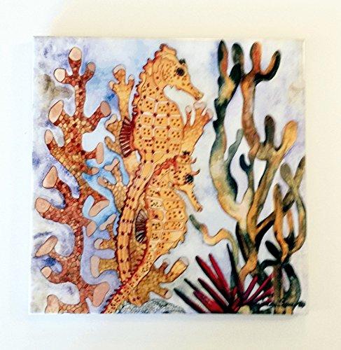 Ceramic Tile Seahorse-