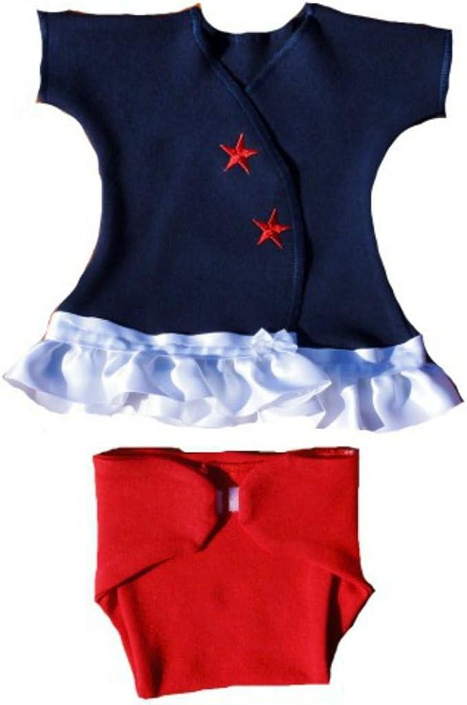 Preemie White /& Blue USA Sassy Dress Jacquis Baby Girls Red