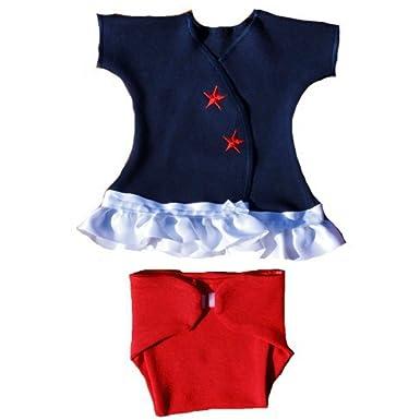 Amazon Com Jacqui S Baby Girls Red White Blue Usa Sassy Dress