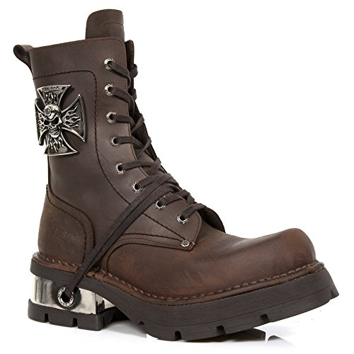 New Rock M.1623-S3 Galia Men's Brown Leather Boots Brown TCRJw