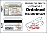 Ordained Minister ID Card - Custom with Your Photo and Information - Church Identification