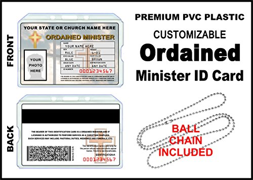 Ordained Minister ID Card - Custom with Your Photo and Information - Church Identification]()