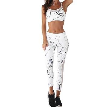 Mejor precio cupón de descuento venta oficial Venmo 2pcs Mujeres chándal Tanque Tops Pantalones Conjuntos Camisetas Mujer  Gym Camisetas Mujer Manga Larga Ajustados Basicas