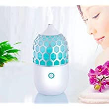 Essential Oil Diffuser: Multi-Color Changing Lights | 90ML Capacity | Ultrasonic Cool Mist Aromatherapy | Smart Auto Shut-off Feature | One Year No Hassle Warranty