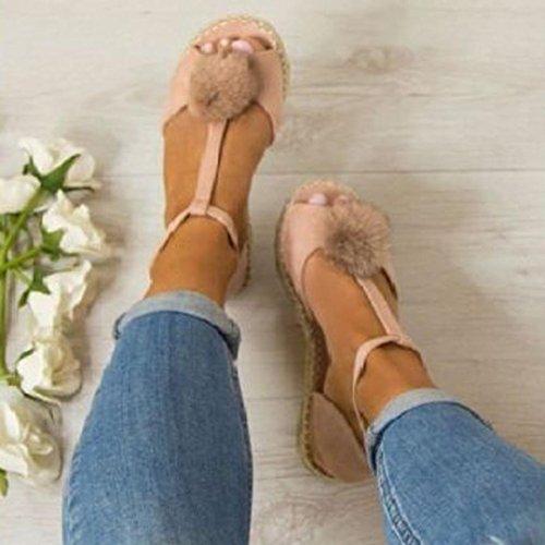 Tasainen Espadrillokset Naisten Pinkki Naiset Jamicy Paksu Kesän Sandaalit Kengät fq67wZHw