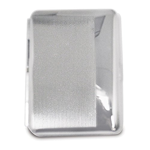 (Silver-tone Cigarette and Cards Case w/Elastic (Holds 14 king))