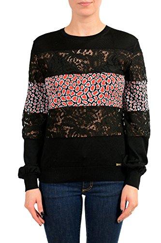 Just Cavalli Women's Multi-Fabric Crewneck Sweater US S IT (Just Cavalli Women Sweaters)