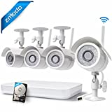 Zmodo 4CH 1080p HDMI NVR with 4 x 720p HD WiFi Wireless Indoor Outdoor Home Security Camera System 500GB Hard Drive, Remote Playback, Cloud Service Available