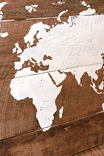 Barn wood world map in 51×28