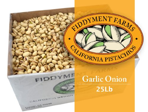 Fiddyment Farms 25 Lbs Garlic Onion In-shell Pistachios by Fiddyment Farms Gourmet Pistachios