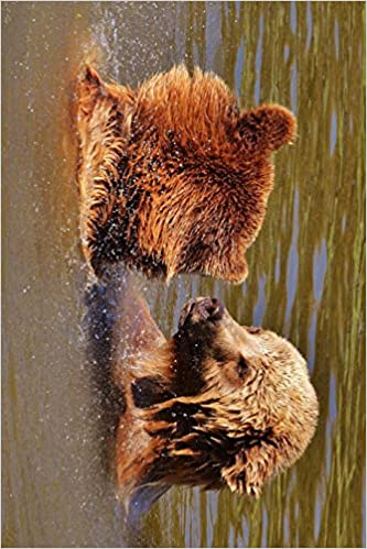 Two Bear Cubs Taking a Bath: Blank 150 page lined journal for your thoughts, ideas, and inspiration