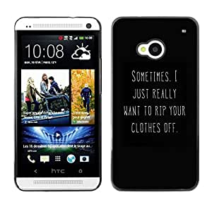 SKCASE Center / Funda Carcasa - Negro Blanco You Text caliente;;;;;;;; - HTC One M7