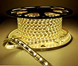 Quest Professional Grade High End 100 Feet Flat LED Strip Rope Light, Indoor/Outdoor Use 10100 Lumen, Dimmable, 120V, With Power Cord- 4000K
