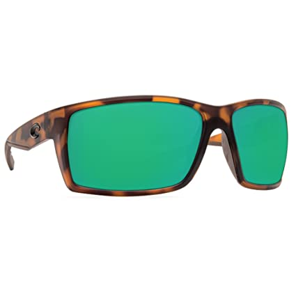 195e7141c5092 Image Unavailable. Image not available for. Color  Costa Del Mar Reefton  Sunglass Matte Retro Tortoise Green Mirror 580Plastic