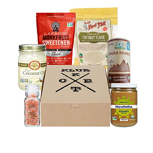 Keto Klub Pantry Box with Almond Meal, Caocao Powder, Monkfruit Sweetener, Coconut Oil and more for cooking essentials (Pantry) by Keto Klub (Image #1)