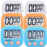 6 Pack Digital Kitchen Timer Magnetic Countdown Up Minute Second Timer (6)