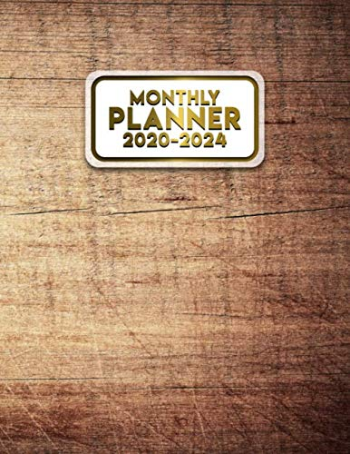 2020-2024 Monthly Planner: 5 Year Organizer with 60 Months Spread View. Pretty Five Year Calendar, Agenda & Journal with To Do's, Inspirational ... Boards & More - Cute Tropical Hardwood Print