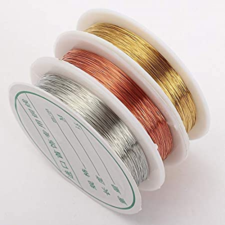 24 Gauge Copper Colored Jewelry Making Bead Craft Wrapping Wire Choice of Length