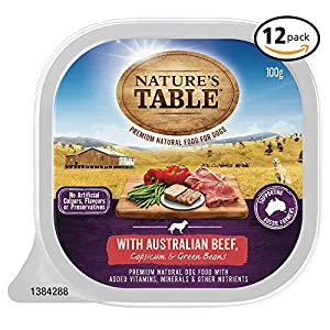 NATURES TABLE Australian Wet Dog Food Click on image for further info.