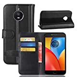 Scheam Motorola Moto E4 Plus Folio Cover, Phone Case Defender Cover Case Bumper Shell Black