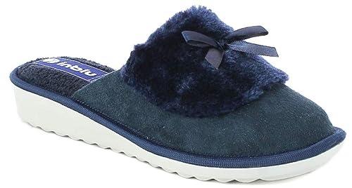 CI Art Pantofole Amazon Ciabatte da Invernali 73 INBLU Donna Blu YqX6pw