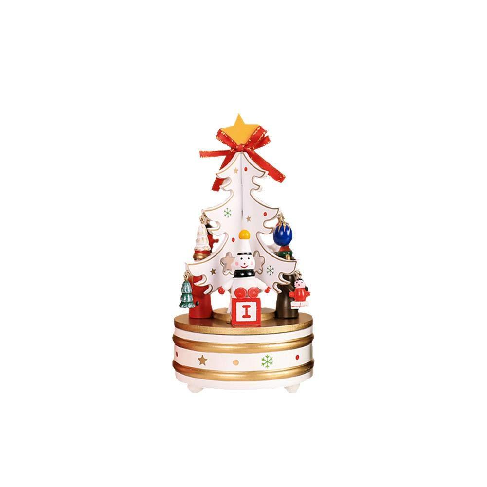 Keng Albero di Natale Carillon Campana Carillon in Legno Regalo di Natale Artigianato Ornamenti Giocattolo Decorazione Interna Music Box Regalo per Natale