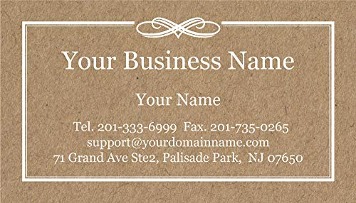 Classic Business Cards - Custom Business Cards 500pcs Full color - Natural Kraft Image - 14pt classic matte stock paper (114 lbs. 308gsm-Thick paper),Offset Printing, Made in The USA