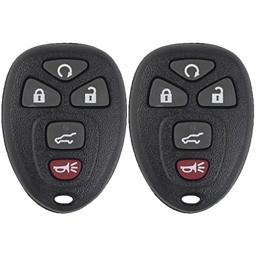 Pack of 2 Mushan Car Key Replacement Keyless Entry Remote fits 2007-2014 Cadillac Escalade/Cadillac Escalade ESV/Chevrolet Suburban/Chevrolet Tahoe/GMC Yukon,2009-2017 Chevrolet Traverse,2007-2016 GMC (Cadillac Cars 2009)