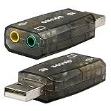 Theo&Cleo USB 2.0 Audio Headset Microphone Jack Converter Adapter