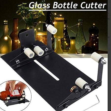 Cortador de botellas, cortador de vidrio, botella de vino, kit de herramientas para cortar botellas cuadradas/redondas, herramienta de manualidades