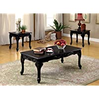 HOMES: Inside + Out ioHOMES 3 Piece Chesapeke Table Set, Black Finish