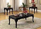 Cheap Furniture of America 3 Piece Chesapeake Table Set, Black