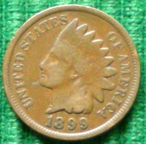 1899 U.S. Indian Head Cent / Penny (Cent Indian Coin)