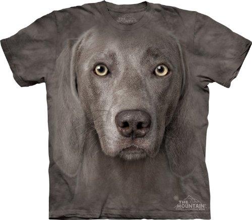 Mountain Weimaraner Adult Size T-shirt , Gray , XXX-Large