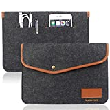 Macbook Air 11.6-Inch Case / 12'' 12-Inch New MacBook Sleeve Case, Ultrabook Netbook Bag Envelope Cover Sleeve Carrying Protector Case Bag with Card Slot (Also fit with Slim hard case installed)