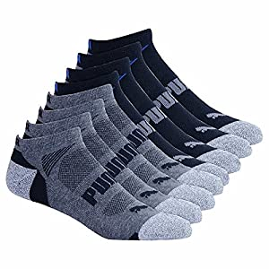 Puma Men's No Show 8-pair Athletic Socks for Men (Black)