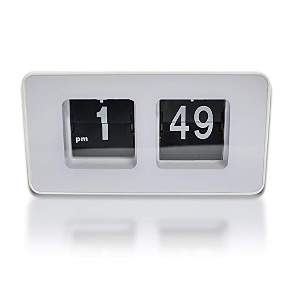 Careshine Automatique Numérique Réveil, Smart Horloge de Bureau - Tourner Automatiquement Les Pages - Meilleure Décoration de Bureau ou Domicile