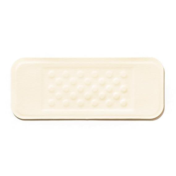 MastaPlasta Reparación Cuero, Polipiel y Skai - Parches Adhesivos Rectangulo Pequeño (100x40mm) (Marfil)
