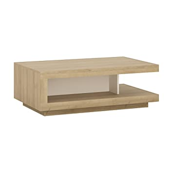 Table Basse Design Bois.Furniture To Go Table Basse Design Riviera Chene Blanc Brillant Bois